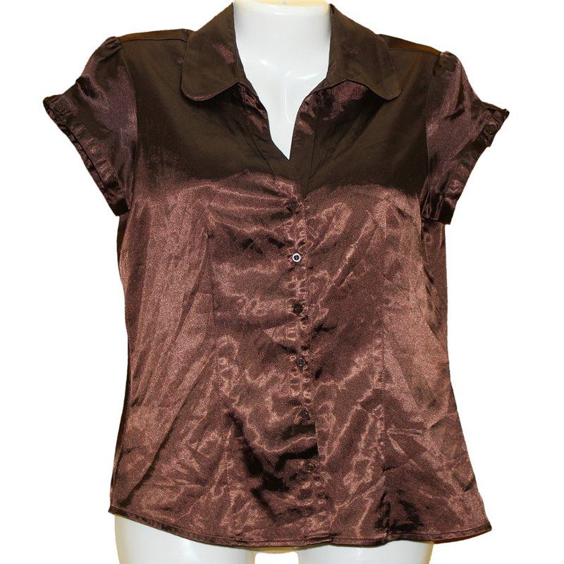 942129703a2 Легкая коричневая блузка с блеском Jake s р.44-46 секонд хенд