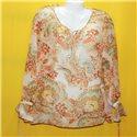 Легкая полупрозрачная блузка с завязками р. 50-52