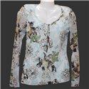 Женская блузка лонгслив с цветочками Street One р. 44-46