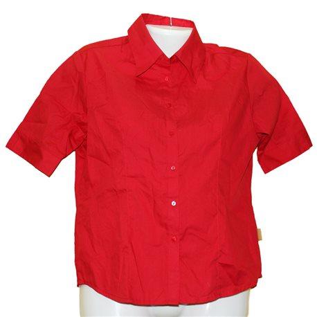 Красная приталенная блузка Street One р. 44-46