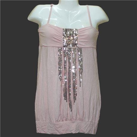 Короткий сарафан платье с вышивкой пайетками Amisu р. 42-44