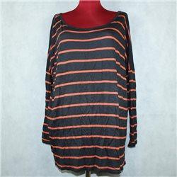 Блузка туника 69-70 Zara в оранжевую полоску