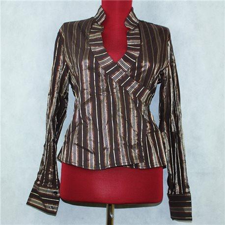 Женская блузка 42-44 бронзового цвета с запахом