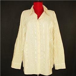 Женская рубашка 60-62 кремового цвета Chicc