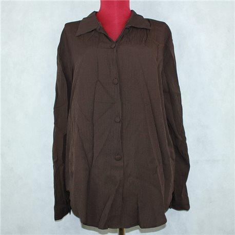 Женская рубашка 58-60 шоколадного цвета Azar