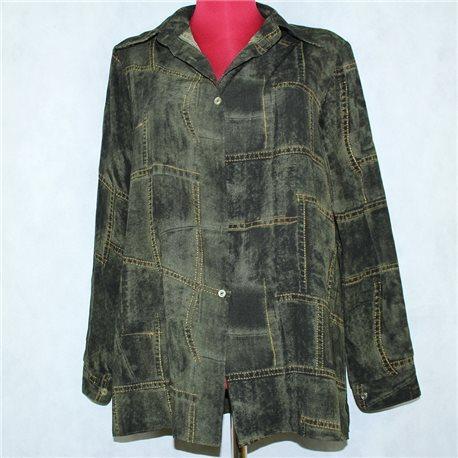 Темно-зеленая рубашка 48-50 женская