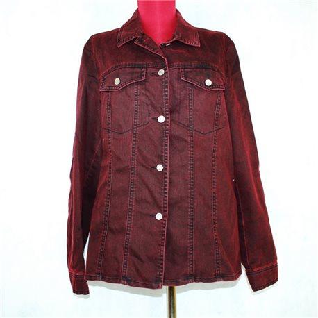 Бордовая куртка 50-52 джинсовая