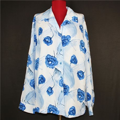 Белая итальянская женская блузка секонд хенд