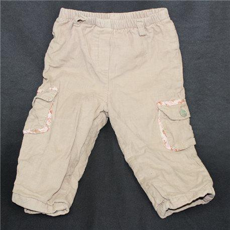 Бежевые вельветовые детские штаны 20-22