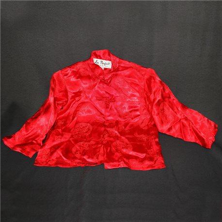 Красная детская рубашка в китайском стиле