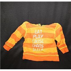 Оранжевая детская толстовка с капюшоном