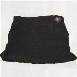 Детская черная юбка в складку 28-30
