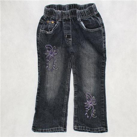 Детские джинсы с вышивкой 28-30