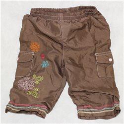 Детские коричневые штаны 24 с вышивкой