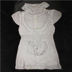 Серое вязаное платье р. 38-40 Da Sheng
