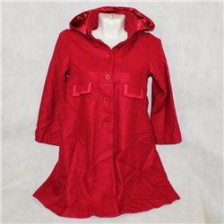 Стильное красное пальто на девочку р-р. 40-42