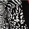 Платье черное р. 44-46 с белым принтом Clockhouse