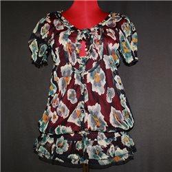 Блузка Next р. 48-50 полупрозрачная с цветным принтом