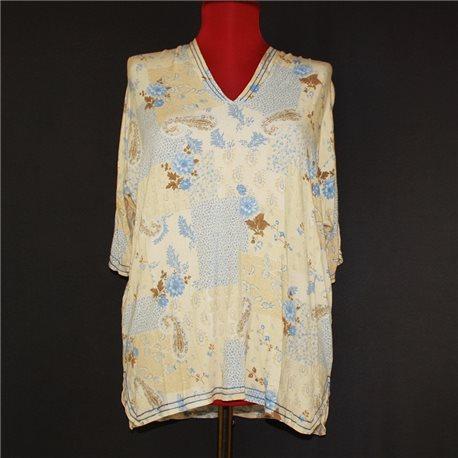 Блузка р. 68-70 с винтажными принтами