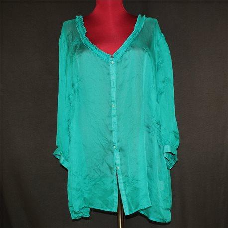 Женская блузка р. 54-56 Covington цвета морской волны