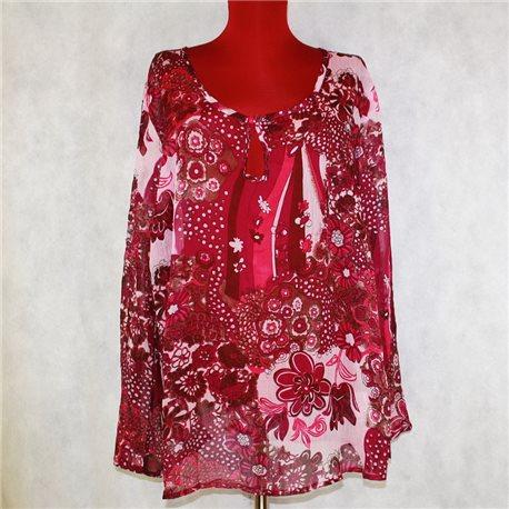 Летняя блузка р. 60-62 Ambria красная