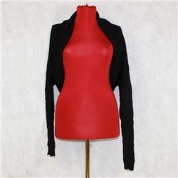 Ажурное вязаное болеро черного цвета