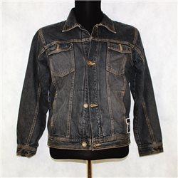 Джинсовая куртка р. 46-48 черная мужская PirateRock